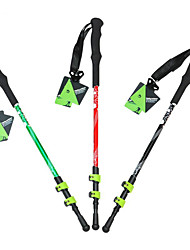 3 Walking Poles Trekking Poles Nordic Walking Poles 135cm (53 Inches)Damping Durable Antiskid Adjustable Length Light Weight Anti-Shock