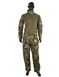 Недорогие -Муж. Жен. Универсальные Длинный рукав Куртка и брюки для охоты С защитой от ветра Удобный камуфляж Наборы одежды для Охота M L XL