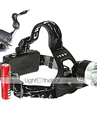 cheap -U'King Headlamps Headlight LED 2000 lm 3 Mode LED with Batteries and Charger Compact Size Easy Carrying High Power Multifunction