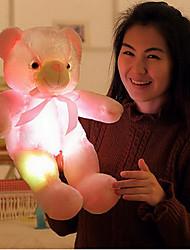 Недорогие -Плюшевый медведь Медведи Плюшевый медведь LED освещение Новогодние подарки Рождественские игрушки Мягкие и плюшевые игрушки Устройства