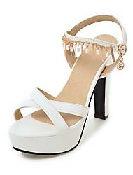 Sandály-PU-Pohodlné Kotníkový pásek-Dámské-Bílá Černá Růžová-Svatba Kancelář Party-Kačenka
