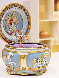 cheap -Music Box Carousel Cartoon LED Lighting / Valentine's Day Adults / Kids Gift Boys' / Girls'