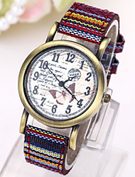 cheap -Women's Quartz Wrist Watch Hot Sale Fabric Band Charm Fashion Black White Blue Red