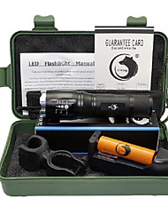 LED Flashlights/Torch Flashlight Kits LED 2000 Lumens 5 Mode Cree XM-L T6 Yes Adjustable Focus for Camping/Hiking/Caving Everyday Use