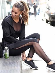 baratos -Mulheres See Through Calças de Yoga Esportes Sexy, Moderno Grade, Lycra Cintura Alta Calças Pilates, Exercício e Atividade Física, Corrida