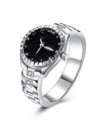 Silver Plated   Diamond Watch Shape Jewelry For Daily 1pc