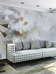 Art Deco Wallpaper For Home Wall Covering Canvas Adhesive required Mural Simple 3D Flowers Simple and Elegant XXXL(448*280cm)