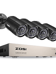 cheap -ZOSI®8-Channel 1080N HD-TVI DVR Surveillance Camera Kit 4x 1280TVL Indoor Outdoor IR Weatherproof Cameras