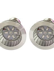 cheap -2pcs 3.5W 100 lm E14 GU10 E27 Growing Light Bulbs 6 leds SMD 5730 Blue Red AC 85-265V