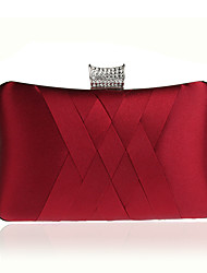 Women Bags Polyester Evening Bag Crystal/ Rhinestone Ruffles for Wedding Event/Party Casual Formal Office & Career Winter Spring Summer