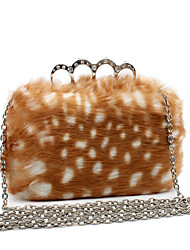 Women Bags Other Leather Type Evening Bag Fur for Wedding Event/Party Casual Formal Office & Career Winter Spring Summer Fall All Seasons