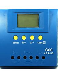 Y-SOLAR LCD 60A 12V/24V Solar Charge Controller Blacklight G60
