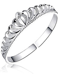 cheap -Women's Cuff Bracelet Rhinestone Silver Plated Fashion Crown Silver Jewelry 1pc