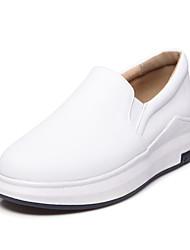 abordables -Mujer-Tacón PlanoZapatillas de deporte-Oficina y Trabajo Vestido Informal-PU-Blanco Negro