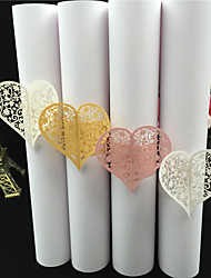 40Pcs/lots Hollow Heart Flower Napkin Rings For Wedding/ Party /Table Decoration Party Favors Party Supplies Wedding Favors
