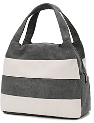 Unisex Bags All Seasons Canvas Lunch Bag for Casual Formal Office & Career Professioanl Use Blue Black Gray Coffee Violet Pink