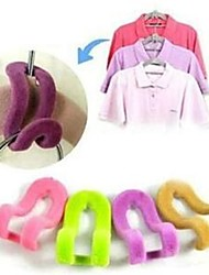 cheap -4Pcs Magic Clothes Hanger With Hook Closet Organizer 3D Space Saving Hanger  Random Color