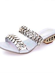 Sandály-PU-PohodlnéStříbrná Zlatá-Šaty Běžné-Plochá podrážka