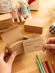 100 pcs/box Craft Label Blank Luggage Tags Message Card Memo Paper Wedding Party Favor Label Price Gift Card (color White/Brown/Black)