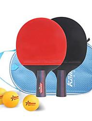 Ping-pong Racchette Ping Pang Legno Manopola corta Brufoli 2 Racchetta 1 Borsa da ping pong 3 Palline