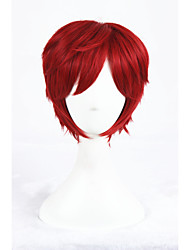 cheap -12Inches ShortLife in a Different World From Zero Red Anime Cosplay Wigs CS-288E