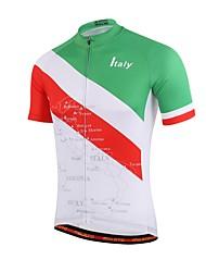 Недорогие -Miloto С короткими рукавами Велокофты геометрический Велоспорт Джерси, Впитывает пот и влагу Кулмакс®