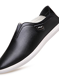 Men's Shoes Leather Spring Summer Fall Winter Fashion Boots Comfort Loafers & Slip-Ons Lace-up For Casual Office & Career Party & Evening
