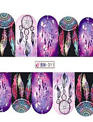 cheap -1pcs Fashion Beautiful Dream Mesh Decoration Nail Art Sticker Water Transfer Decals Nail Beauty Design Optional BN301-312