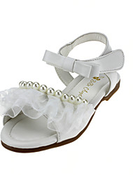 Girl's Flats Summer Flower Girl Shoes Leatherette Wedding Outdoor Office & Career Party & Evening Dress Casual Flat HeelImitation Pearl