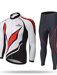 XINTOWN Maglia con pantaloni da ciclismo Per uomo Manica lunga Bicicletta Pantalone/Sovrapantaloni Tuta da ginnastica Cerniera superiore
