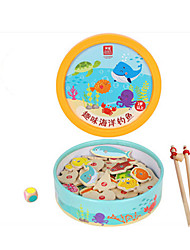 cheap -Magnet Toys Fishing Toys Toys Novelty Fish Wooden Wood Cartoon Classic & Timeless 39 Pieces Children's Day Gift