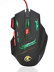 economico -HXSJ brand High-end optical professional gaming mouse with 7 bright colors LED backlit and ergonomics design for comfortable touch,