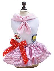 economico -Cane Vestiti Abbigliamento per cani Classico Romantico Di tendenza Marinaro Blu Rosa Costume Per animali domestici