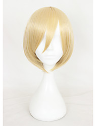 14Inches Short Light Golden Yuri on Ice Yuri Ripley Wig Synthetic Anime Cosplay Wigs CS-317B
