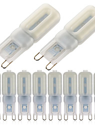 3W G9 LED Bi-pin Lights T 22 SMD 2835 400-450lm Warm White Cold White 2700-6500K Dimmable Decorative AC 220-240V 10pcs