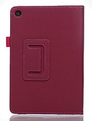 Недорогие -Кожа PU Сплошной цвет планшетный случаи Asus 8-дюймовый планшет