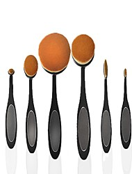 6 Makeup Brush Set Nylon Professional Full Coverage Portable Plastic Face Eye Others