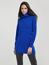 cheap -Women's Cardigan - Solid Colored Turtleneck