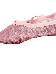 cheap -Kids' Dance Shoes Fabric Fabric Ballet Flats Flat Heel Beginner Indoor Pink Gold