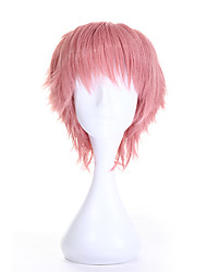 Fashion Hot Sale Cosplay Synthetic Wigs Short Curly Pink Color Wig for Women