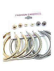 economico -Per donna Orecchini a bottone Orecchini a cerchio Perle finte Pendente Multi-modi Wear Perla Lega Tonda Gioielli Matrimonio Feste