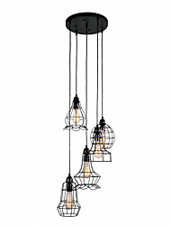 cheap -Pendant Light ,  Traditional/Classic Retro Painting Feature for Designers Metal Living Room Bedroom Dining Room Study Room/Office Entry