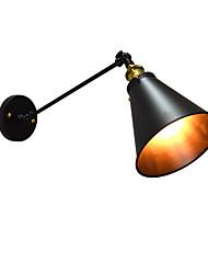 economico -AC220V-240V 4w e27 ha condotto le luci di vernice ronzio lampada da parete singola ferro muro muto lampada spada laser nera sul muro