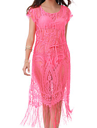 Womens Nylon Lace  Tassels Beauty Sexy Mesh Beach  Cover-Up
