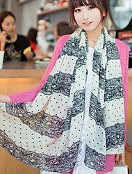 Chiffon Lace Color Matching Little Dots Scarves Female Long Scarf Wave Point Shawl