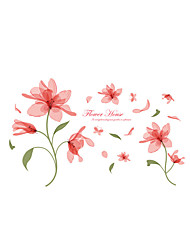 Tegneserie Romantik Blomster Vægklistermærker Fly vægklistermærker Dekorative Mur Klistermærker,Vinyl Materiale Hjem Dekoration