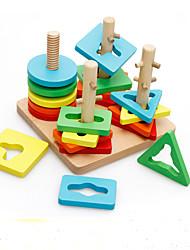 Blocos de Construir Brinquedo Educativo Quebra-Cabeça Brinquedos Forma Cilindrica Peças Crianças Rapazes Dom