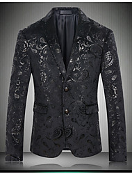 cheap -Men's Sophisticated Street chic Blazer Print Notch Lapel