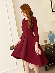 Signer avant le printemps 2017 le grand prix européen Hepburn le tempérament aristocratique du vent était mince et une robe maxi à manches