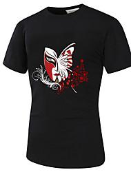 Pánské Jednobarevné Běžné/Denní Čínské vzory Tričko Bavlna Kulatý Krátký rukáv